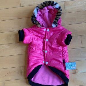 PETSOO Pink dog coat for small dog